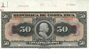 Costa Rica 50 Colones 5.26.1919 P 150s Series A Uncirculated Banknote Ny