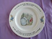 Peter Rabbit Collectors Plate - Made By Wedgewood England, Beatrix Potter Design