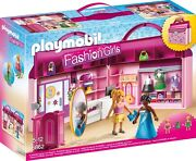 Playmobil Carry Case Foldable Shop Of Fashion Girls Toy Girl Boy