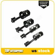 4 Pcs Front Rear Complete Struts Mount Coil Springs For 98-99 Subaru Legacy