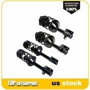4 Pcs Front Rear Complete Strus Mount Coil Spring For 98-02 Subaru Forester