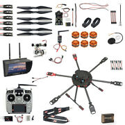 Qwinout Q705 Helicopter Diy Drone Kit T18/at9s/fs-i6/at10 Remote Control Apm/pix