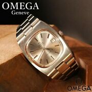 Omega Geneve Automatic Antique Cal.1012 36mm Limited Rare Silver From Japan