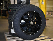 20x9 A2 Offroad Black Wheels Rim 32 General At Tires 6x135 Ford F150 Expedition