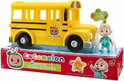 Cocomelon Musical Yellow School Bus Plays Wheels On The Bus Includes Jj Figure