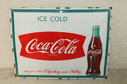Coca Cola Fishtail Signs Vintage Style Porcelain Signs Country Store Gas Station