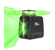360anddeg Ultra Bright Green Plane And Line Auto-level Rotary Cross Laser Tripro Kit