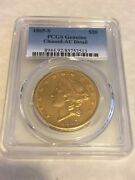 1865-s Pcgs Au Liberty Double Eagle 20 Gold Coin Beautiful Coin
