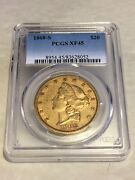 1868-s 20 Pcgs Xf45 Liberty Double Eagle Gold Coin Nicely Struck Sharp Details