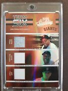 2005 Absolute San Francisco Giants Team Six Mays Mccovey Clark Cepeda Perry Mar