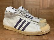Rare🔥 Adidas Made In France Thurl Bailey Big T Autographed Hi Top Nba Worn Shoe