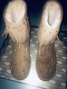 Jimmy Choo Uggs Starlit Chestnut Womenandrsquos Size 11 Suede Boots
