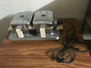 Vintage Manning Bowman 2525 Waffle Iron Mid Century Art Deco Works 1930and039s
