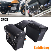 2pack Motorcycle Saddle Bag Universal Waterproof Tail Luggage Panniers Pouch Bag
