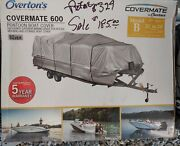 """Covermate Pontoon Boat Cover 21-24' 102"""" Beam 600 Denier Polyester R1-333"""