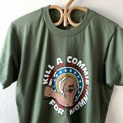 Vtg 80s Rare Military Kill A Commie For Mommy Motorcycle Trucker T Shirt M/l