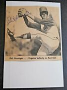 Phil Hennigan - Autograph On Newspaper Article - Attached - Index Card - Indians