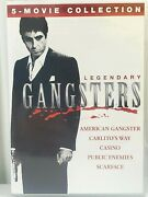 Legendary Gangsters 5 Movie Collection Dvd Casino Public Enemies Scarface