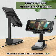 Qi Wireless Charger 2-in-1 Bracket Telescopic Folding Phone Tablet Multi Holder