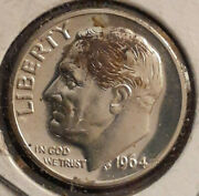 1964 P Brilliantly Uncirculated Full Torch Franklin D. Roosevelt Dime 10c