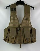 New Usmc Molle Fighting Load Bearing Carrier Vest Pouch Coyote W/ 4 Mag Pouches