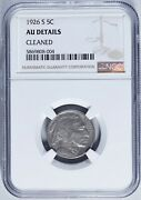 1926-s Buffalo Nickel 5c Almost Uncirculated Ngc Au Details Cleaned
