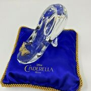 Disney Cinderella Glass Shoes Slipper With Cushion For Winter Gift Xmas