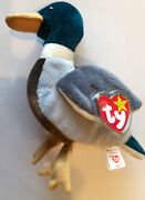 Extremely Rare Pristine Condition Rare Errors 1997 Jake The Duck Beanie Baby