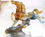 Glass Handcrafts Horse Decorative Ornaments For Living Room Office Decoration