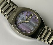 Beautiful Rare Vulcain Mens Gents Day Date Automatic Watch Stainless Steel