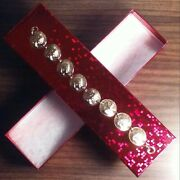 Us Indian/lincoln Cent Pop Out Bracelet + Box. Repousse Gold Plated Coin/jewelry