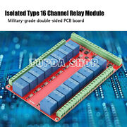Isolated Type 16 Channel Relay Module Interface Board High/low Level Trigger Dc