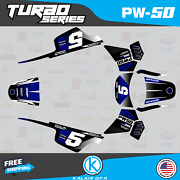 Graphics Kit For Yamaha Pw50 1990-2021 Pw-50 Pw 50 Turbo Series- Blue