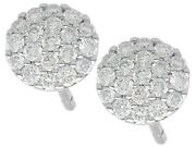 Vintage 0.50 Ct Diamond And 18k White Gold Stud Earrings1990s