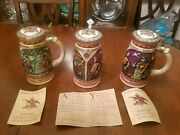 Anheuser-busch 1492 Discover America Series Budweiser Limited Edition Lot Of 3