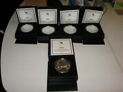 2011 America The Beautiful 5 Oz Silver Coins- 2 Of Each 5 Sets =10 Sets