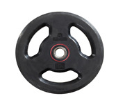 Pair Olympic Iron Plates 22 Lbs Weight Plates Rubber Coated 3 Grip