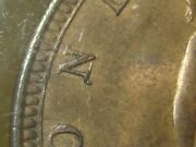 1860 Victorian Penny From Great Britain N Over Z Variety F-10a Ms64rb Rare