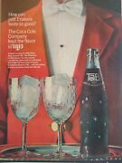 1960and039s Coca Cola Print Ad Tab Vintage Bottle Advertisement