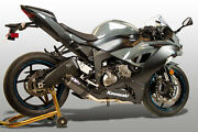 M4 Exhaust Kawasaki Zx6r 2009 - 2021 Full System W/carbon Street Slayer Canister