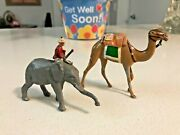 Britains Lead Animals Elephant And Lead Toy Animal Camel