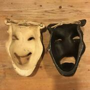 Antique 50and039s American Theater Mask Black And White