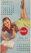 Pinup Girl - Cola Calendar Page 4 Poster Canvas Picture Art Movie Car Game Film