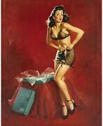Pinup Girl - I Must Be Going To Wa Poster Canvas Picture Art Movie Car Game Film