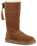 Koolaburra By Ugg Womenand039s Andrah Suede And Faux Fur Boots Chestnut