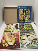 1967 Whitman Space Ghost Frame Tray Puzzles- Box Of 4