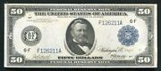 Fr. 1044 1914 50 Frn Federal Reserve Note Atlanta Ga About Uncirculated Rare