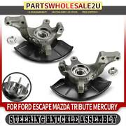 2x Front Left And Right Wheel Hub Bearing Steering Knuckle For Ford Escape Tribute