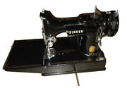 Vintage Singer Sewing Machine In Cabinet With Repairing Accessories And More