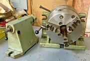 Bison 8 Horizontal Vertical Rotary Indexing Super Spacer W/ Chuck And Tail Stock